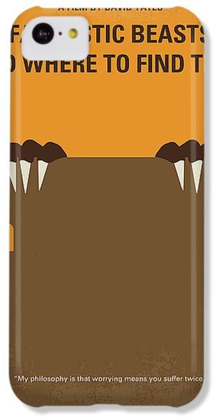 Wizard iPhone 5c Case - No962 My Fantastic Beasts And Where To Find Them Minimal Movie Poster by Chungkong Art