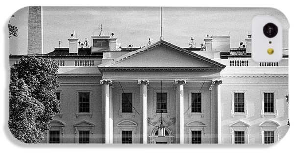 north facade from pennsylvania avenue the white house with washington monument in the background Was IPhone 5c Case by Joe Fox