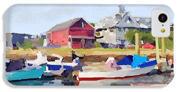 North Shore Art Association At Pirates Lane On Reed's Wharf From Beacon Marine Basin IPhone 5c Case by Melissa Abbott