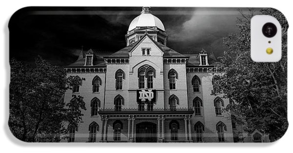Notre Dame University Black White 3a IPhone 5c Case by David Haskett