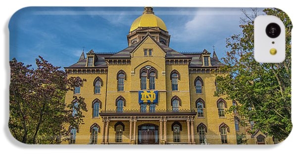Notre Dame University Golden Dome IPhone 5c Case by David Haskett
