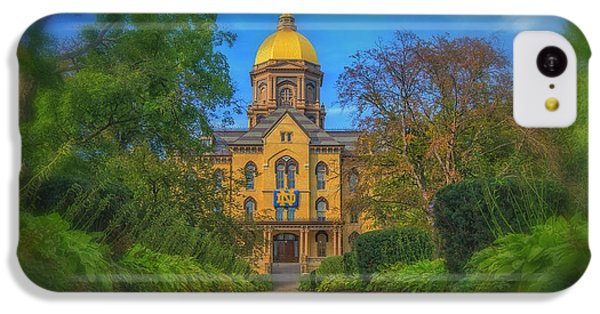 Notre Dame University Q2 IPhone 5c Case by David Haskett