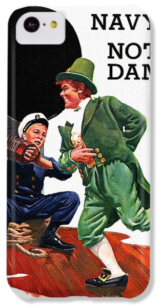Notre Dame V Navy 1954 Vintage Program IPhone 5c Case