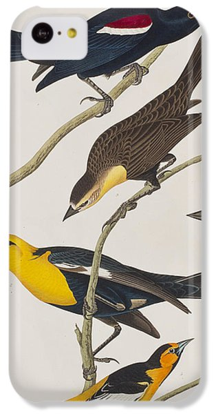 Nuttall's Starling Yellow-headed Troopial Bullock's Oriole IPhone 5c Case by John James Audubon