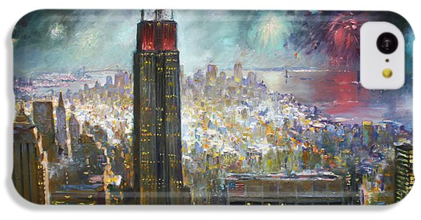 Nyc. Empire State Building IPhone 5c Case by Ylli Haruni