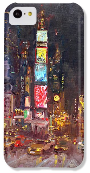 Nyc Times Square IPhone 5c Case by Ylli Haruni