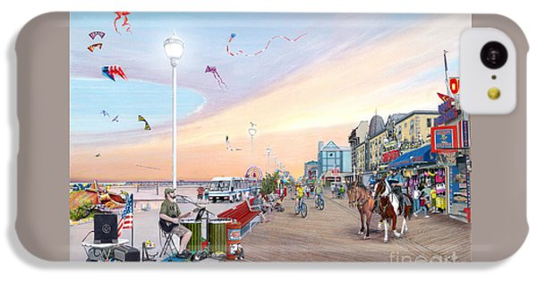 City Sunset iPhone 5c Case - Ocean City Maryland by Albert Puskaric