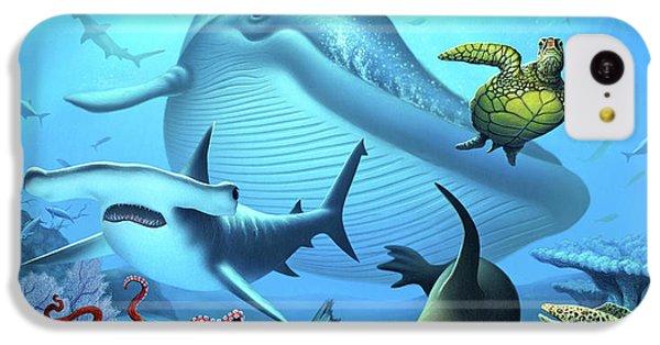 Hammerhead Shark iPhone 5c Case - Ocean Life by Jerry LoFaro