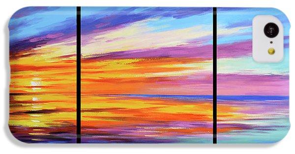 Beach Sunset iPhone 5c Case - Ocean Sunset by Graham Gercken