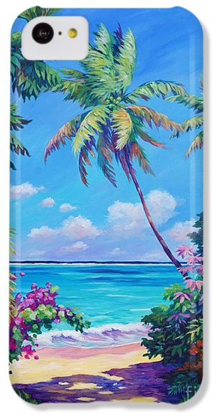Sound iPhone 5c Case - Ocean View With Breadfruit Tree by John Clark