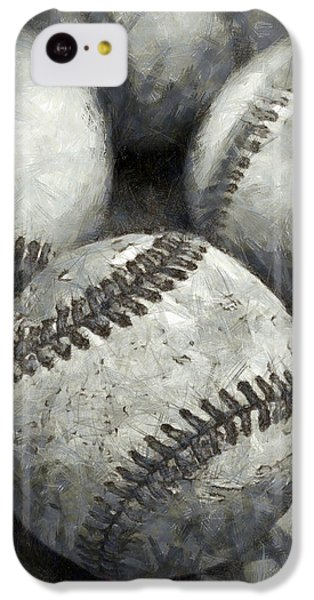 Old Baseballs Pencil IPhone 5c Case by Edward Fielding