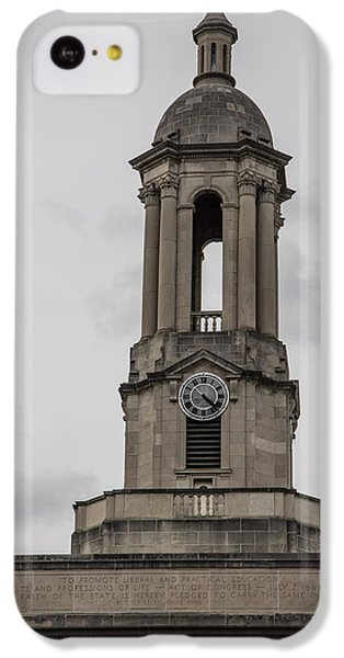 Old Main From Front Clock IPhone 5c Case by John McGraw