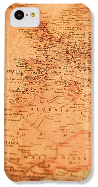 Navigation iPhone 5c Case - Old Maritime Map by Jorgo Photography - Wall Art Gallery