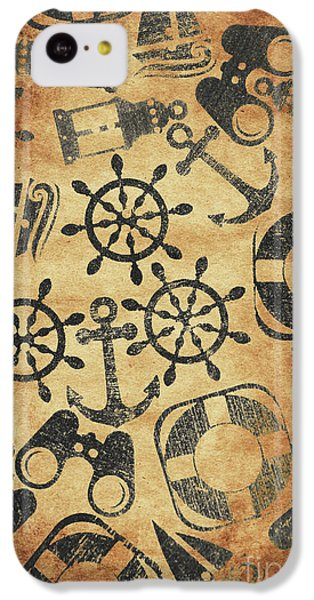 Navigation iPhone 5c Case - Old Nautical Parchment by Jorgo Photography - Wall Art Gallery