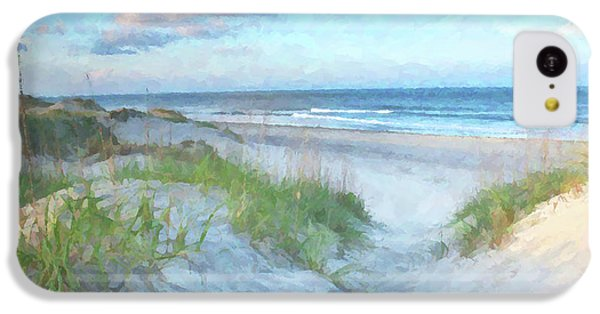 On The Beach Watercolor IPhone 5c Case