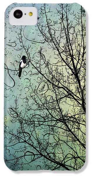 Magpies iPhone 5c Case - One For Sorrow by John Edwards