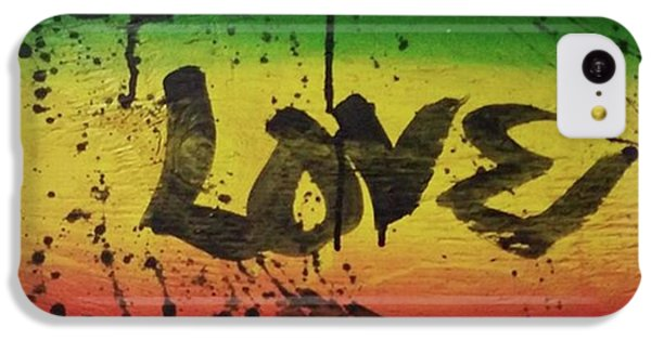 iPhone 5c Case - One Love, Now More Than Ever By by Eyeon Energetic