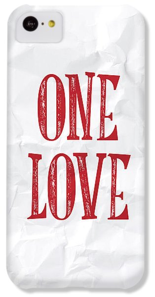 Valentines Day iPhone 5c Case - One Love by Samuel Whitton