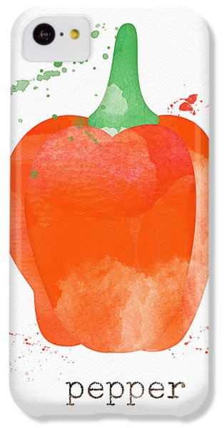 Rural Scenes iPhone 5c Case - Orange Bell Pepper  by Linda Woods