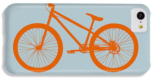 Bicycle iPhone 5c Case - Orange Bicycle  by Naxart Studio