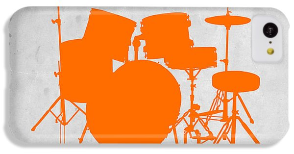 Drum iPhone 5c Case - Orange Drum Set by Naxart Studio
