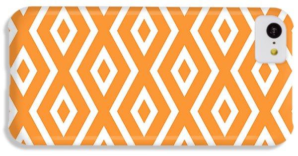 Orange iPhone 5c Case - Peach Pattern by Christina Rollo
