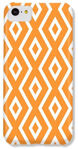 Orange Pattern IPhone 5c Case by Christina Rollo