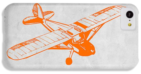 Helicopter iPhone 5c Case - Orange Plane 2 by Naxart Studio