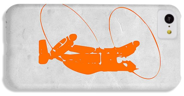 Helicopter iPhone 5c Case - Orange Plane by Naxart Studio