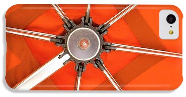 Orange iPhone 5c Case - Orange Umbrella #photography by Juan Silva