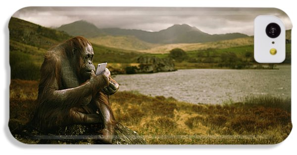 Orangutan With Smart Phone IPhone 5c Case by Amanda Elwell