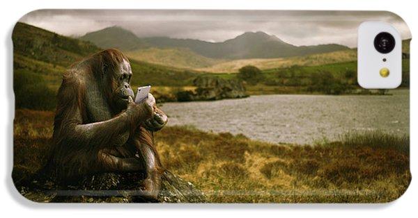 Orangutan With Smart Phone IPhone 5c Case by Amanda Elwell