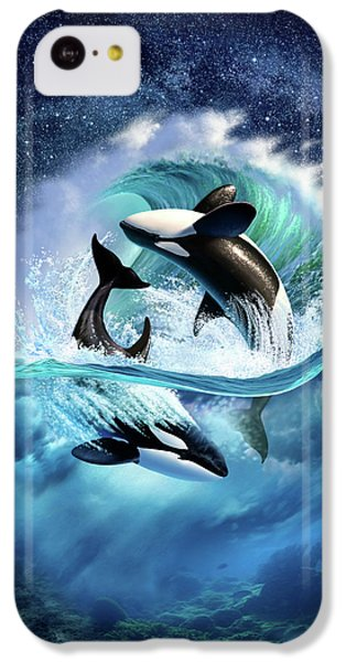 Dolphin iPhone 5c Case - Orca Wave by Jerry LoFaro