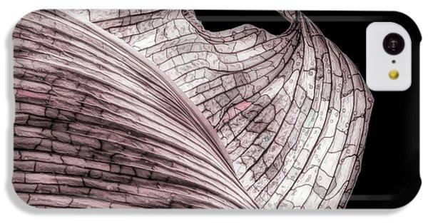 Orchid iPhone 5c Case - Orchid Leaf Macro by Tom Mc Nemar