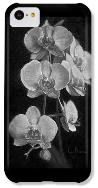 Orchids - Black And White IPhone 5c Case by Lucie Bilodeau