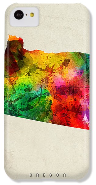 Oregon State Map 01 IPhone 5c Case by Aged Pixel