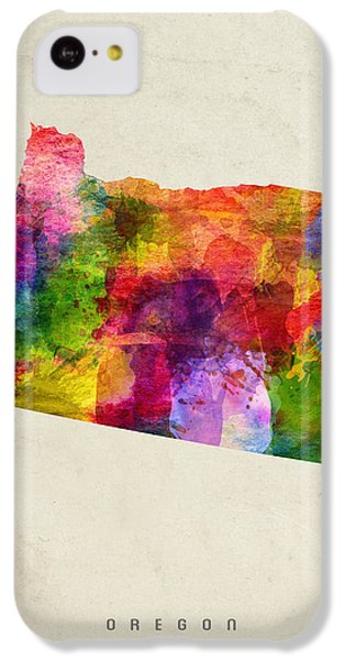 Oregon State Map 02 IPhone 5c Case by Aged Pixel