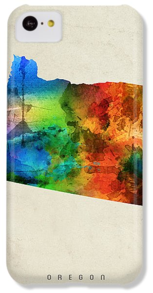Oregon State Map 03 IPhone 5c Case by Aged Pixel