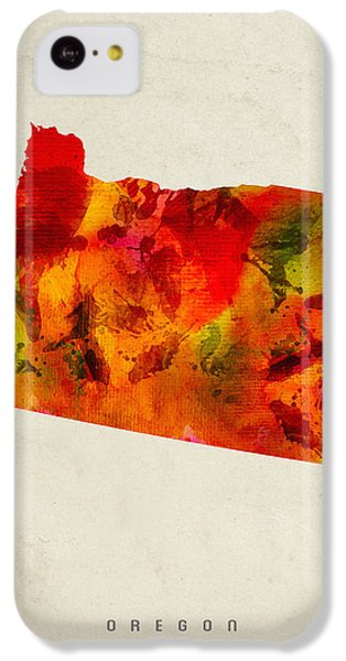 Oregon State Map 04 IPhone 5c Case by Aged Pixel