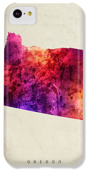 Oregon State Map 05 IPhone 5c Case by Aged Pixel