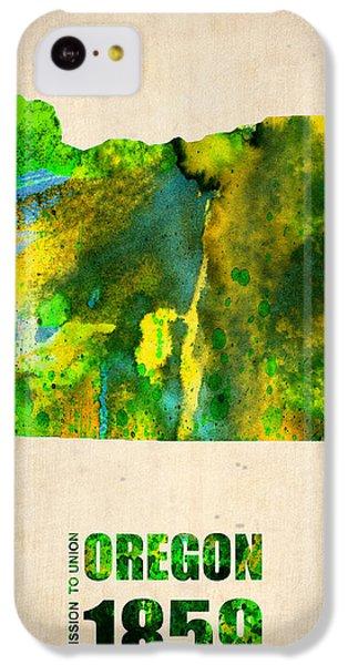 Oregon Watercolor Map IPhone 5c Case by Naxart Studio