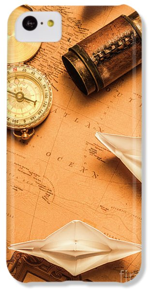 Navigation iPhone 5c Case - Origami Paper Boats On A Voyage Of Exploration by Jorgo Photography - Wall Art Gallery