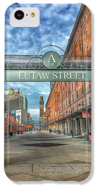 Oriole iPhone 5c Case - Oriole Park At Camden Yards - Eutaw Street Gate by Marianna Mills