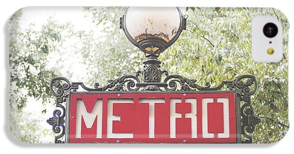 Transportation iPhone 5c Case - Ornate Paris Metro Sign by Ivy Ho