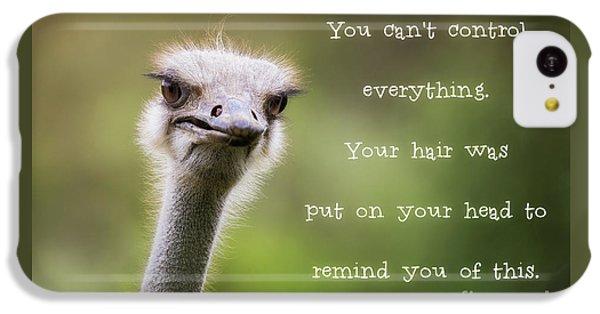 Ostrich iPhone 5c Case - Ostrich Having A Bad Hair Day by Jane Rix