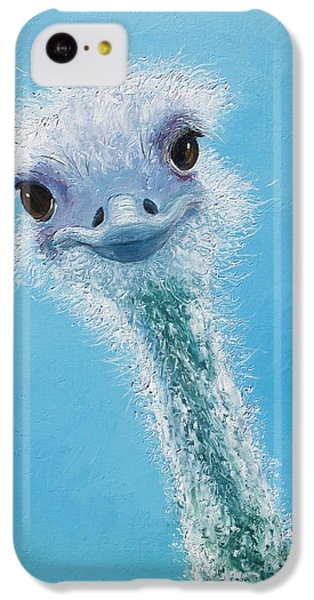Ostrich Painting IPhone 5c Case by Jan Matson