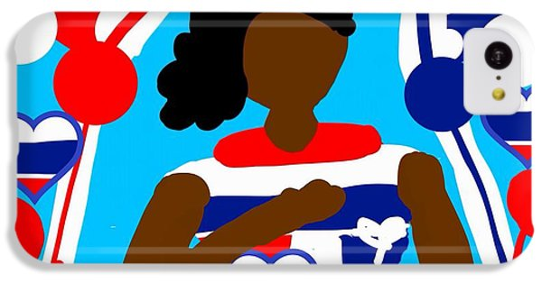 The Art Of Gandy iPhone 5c Case - Our Flag Of Freedom 3 by Joan Ellen Gandy of The Art Of Gandy