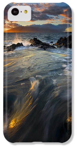Ocean Sunset iPhone 5c Case - Overflow by Mike  Dawson