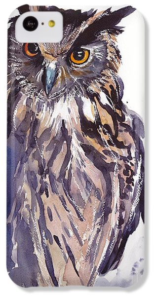 Pigeon iPhone 5c Case - Owl Watercolor by Suzann's Art