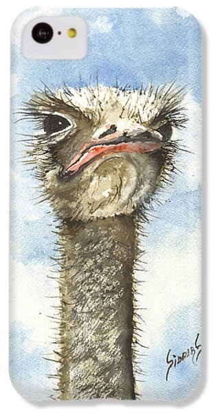 Ostrich iPhone 5c Case - Ozzie by Sam Sidders